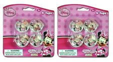 Disney MINNIE MOUSE ~ (8) Mini Spin Tops ~ Birthday Party Supplies Party Favors