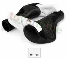 MTB Folding Bike Handlebar Rubber Grip Black Gray Aluminum Barend White