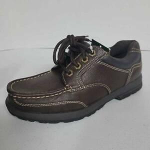 Thom McAn Mens Koltrain Oxfords Shoes Brown Black Lace Up Moc Toe 6.5 M New