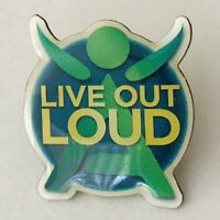 Live Out Loud Pin Badge Rare Vintage (A5)