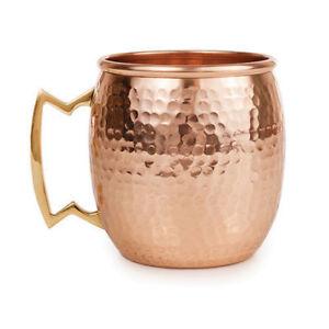 Mule Vodka Drinkware Coffee Mug 400 ml for Christmas New Year Natural Hammered