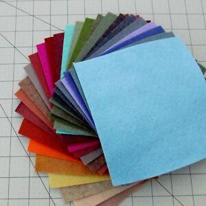 """27 - 12""""X12""""  Sheets Merino Wool blend Felt - Assorted Colors"""