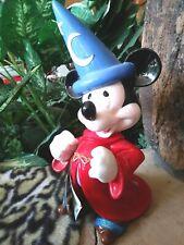 Mickey Sorcerer Musical Hand Glazed Schmid Figurine,Huge,Disney'S Fantasia,w/Tag
