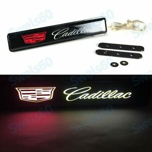 LED Light Car Front Bumper Grille Emblem Luminescent Badge Sticker For Cadillac