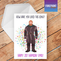 Personalised funny GAME OF THRONES birthday greeting card FUN/rude/spoof/gift