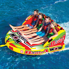 WOW Watersports Giant Bubba HI-VIS 4 Rider Inflatable Tube Boat Towable 17-1070