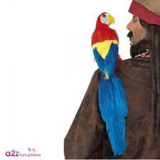 Parrot With Elastic Holder 50cm Pirates Of The Caribbean Fancy Dress Accessory