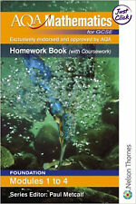 AQA Mathematics for GCSE Modular Foundation Homework Book Modules 1-4, New, Marg