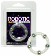 Anello per Pene Robotic Beaded Cockring Transpatent latte