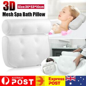 3D Mesh Bath Pillow Spa Breathable Bathtub Cushion Neck Back Support Tub Suction