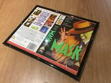 framed The Mask VHS Video Sleeve Art Pub Man Cave Film Memorabilia Jim Carrey
