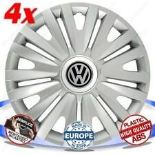 SET 4 BORCHIE COPPE RUOTA COPRI CERCHI ROYAL SILVER 15 VW TOURAN