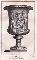 Gravure XVIIIe Vase Sacrifice Iphigénie Mythologie Grecque Ιφιγένεια Iphigenia