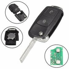 #1J0 959 753 AG Flip Remote Key 2 Button Fob Case w/ 433MHz ID48 Chips For VW