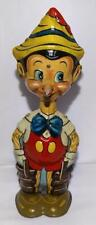 "RARE VERSION 1: EX! DISNEY 1939 ""PINOCCHIO"" MARX TIN WIND-UP TOY+ BUILT-IN KEY"