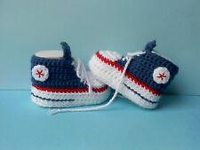 NEU !! Babyschuhe Babychucks Geschenk Handarbeit gehäkelt gestrickt in 3 Größen