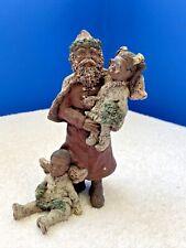 "6"" Sarah's Attic Le Black Santa Claus & Children Figurine 1990 A Gift Of Peace"