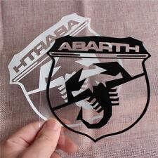 ABARTH logo adesivo scorpione fiat 500 grande punto cofano tuning RACING 12X12cm