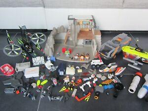 Playmobil Agenten Hauptquartier U-Boot Fahrzeug Helikopter Ersatzteile