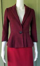 TABITHA Anthropologie Chandelier Knit Blazer Peplum Jacket XS