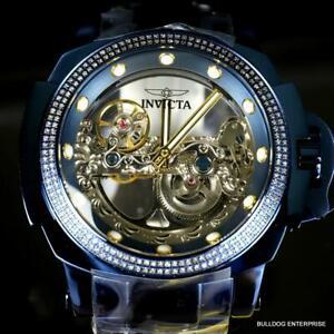 Invicta Man of War .87 CTW Diamond Blue Label Ghost Bridge Auotomatic Watch New
