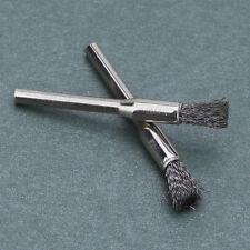 Rueda Giratoria 3mm 10x Alambre de acero herramienta de Taza de Cepillo Caña Para Dremel Taladros (115)