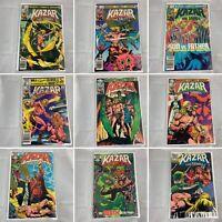 (Lot Of 15) Ka-Zar The Savage No. 2, 3, 7, 8, 10-13, 21, 27, 29-33 Marvel Comics