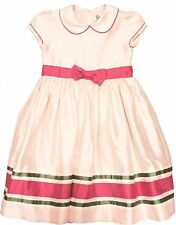 Lilly Pulitzer Girls' Fancy Silk Party Dress with Pink Bow Size 6