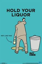 DRINKING POSTER Guy Code Hold Your Liquor 22x34 Trends