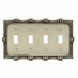 Quad Switch Plate Pineapple Satin Pewter Franklin Brass 64461