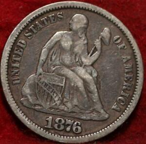 1876-CC Carson City Mint Silver Seated Liberty Dime