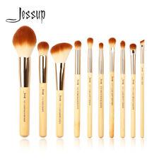 Jessup New 10pcs Bamboo Makeup Brush Set Cosmetic Brushes Kit Make up Tools T143