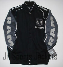 SIZE S Authentic Dodge Ram Embroidered Cotton Jacket JH Design Black New S