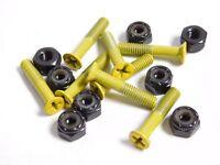 "Cal 7 Skateboard 1/"" Hardware Screws Bolts Chrome Yellow"