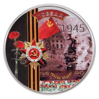 2011 $2 NIUE - WWII VICTORY SOVIET UNION 1945 SILVER PROOF  COIN WITH COA