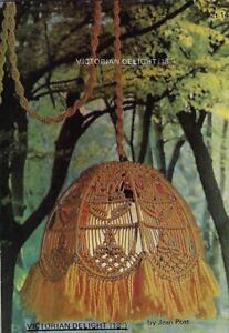 Classic's Macrame Premiere Vol. 1 Book with Hanging Victorian Lamp Pattern CP1