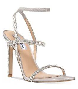 Steve Madden Nectur-R Rhinestone Stretch Dress Sandals SIZE 6.5
