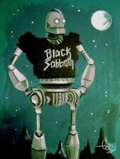 EL GATO GOMEZ RETRO IRON GIANT HEAVY METAL BLACK SABBATH ROBOT GEEK POP SCI-FI