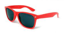 Kids Black Lens Sunglasses Boys Girls Neon Retro Shades Childs Classic Childrens Red