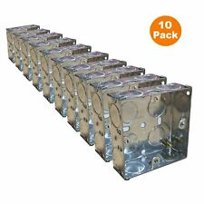 10 x single metal back box 25mm flush mur pattress/1 gang electrical sockets