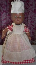 Vintage - Black Americana - Doll - Composition - Bottom is a Tin Can - Mammy