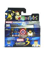 Marvel Minimates Captain America & Ryu Marvel Vs Capcom Series 3 New In Box