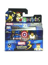 Marvel Minimates Captain America & Ryu Marvel Vs Capcom Tru Series 3 New In Box