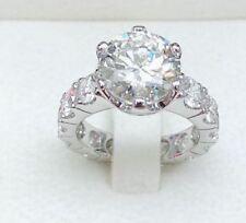 Engagement Ring 14k White Gold 3Ct Round Forever Moissanite Diamond Wedding