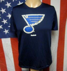 ST. LOUIS BLUES youth lrg T shirt hockey NHL athletic tee Reebok size 14-16