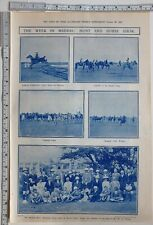 1911 INDIA PRINT MADRAS HORSE & HUNT SHOW POLO PONIES GROUP AT BRODIE CASTLE