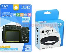 JJC Metal Lens Hood replaces HN-CP17+LCD Protector for Nikon Coolpix P7700 P7800