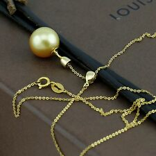 Genuine 18CT YG Natural Southsea Golden Pearl Necklace