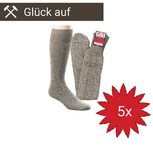 *NEU* 5 Paar Nordpol Socken Püttsocken Original Bergbau Einheitsgröße DIN23346
