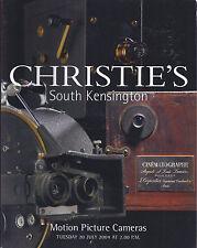 Christie'S Motion Picture Cameras Projection Equipment Auction Catalog 2004